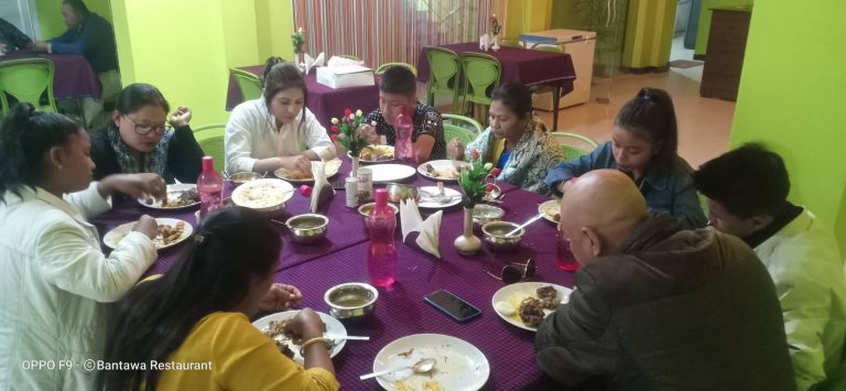 family in bantawa restaurant and cafe