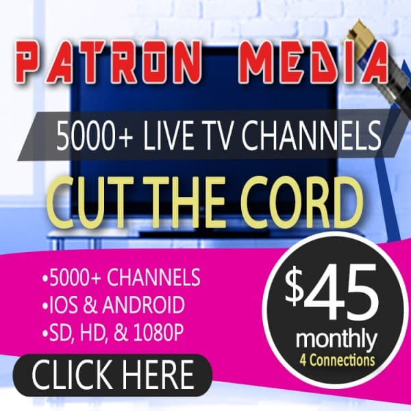 1 month 4 connections iptv by patron tech