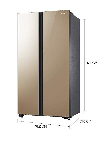 Samsung 700L RS72R50114G/TL SpaceMax Technology Side by Side refrigerator By PandoraBiz.com